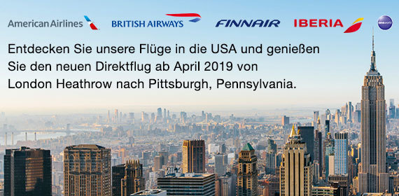 Pittsburgh mit Bristish Airways
