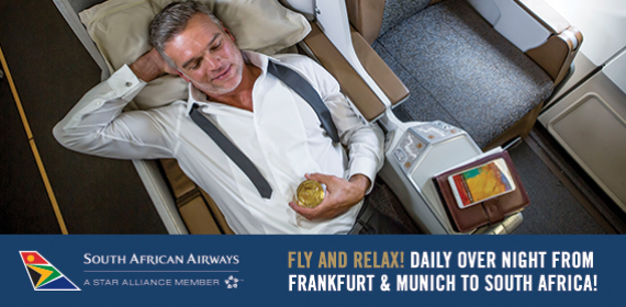 Fly and relax with South African Airways