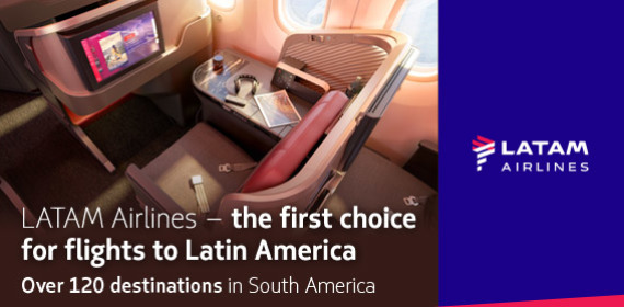 LATAM Airlines - over 120 destinations in South America